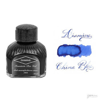 Diamine 80 ml Bottle Fountain Pen Ink, China Blue