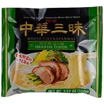 Myojo Chukazanmai Instant Ramen Oriental Salt Flavor, 3.52-Ounce (Pack of 6)