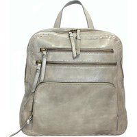 Nino Bossi Handbags Naked Calfskin Carnation Bud Backpack - Stone