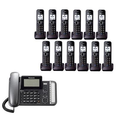 Panasonic KX-TG9582B + (10)KX-TGA950B 12 Handset Corded - Cordless 2 L
