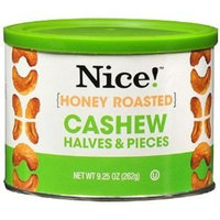 Nice! Cashew Nice! Honey Roasted Cashew Halves and Pieces, 9.25 oz