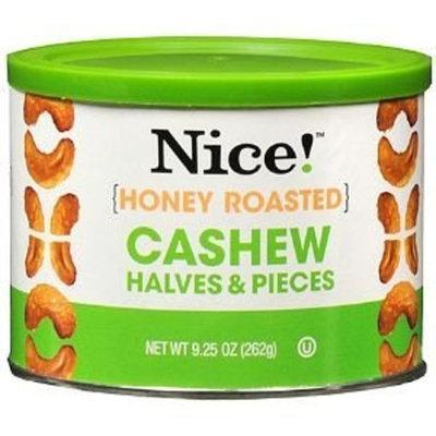 Nice! Cashew Nice! Honey Roasted Cashew Halves and Pieces, 9.25 oz
