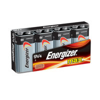 Energizer Max 9V Batteries 4 Count (522BP-4H)