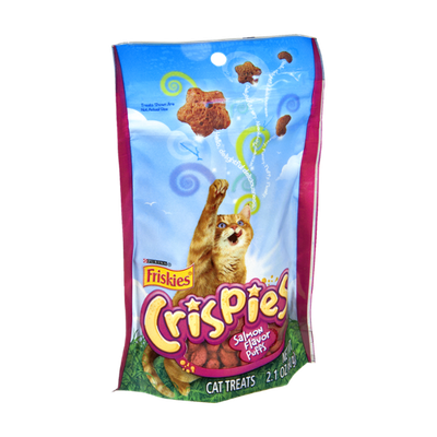 Purina Friskies Crispies Salmon Flavor Puff Cat Treats