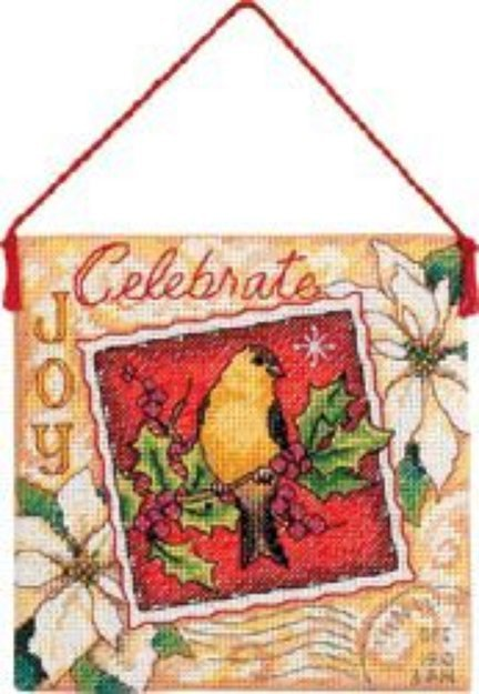 Dimensions Gold Collection Joy Ornament Counted Cross Stitch Kit-4-1/2
