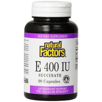 Natural Factors Vitamin E Succinate, 400iu Capsules, 90-Count