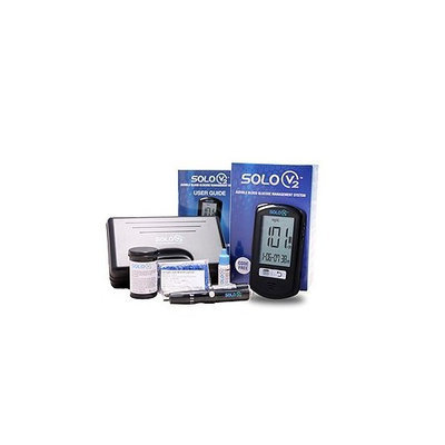 Solo V2 Audible Blood Glucose Meter Kit and 50ct Test Strips