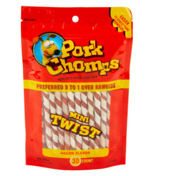 Pork Chomps Mini Twist Dog Treats