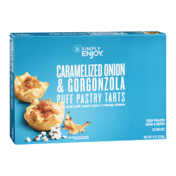 Ahold Simply Enjoy Puff Pastry Tarts Caramelized Onion & Gorgonzola - 12 CT