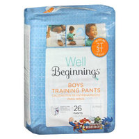 Well Beginnings Premium Training Pants Boy, Jumbo, 2T/3T, 26 ea