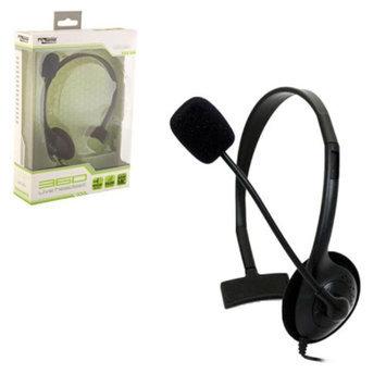 Xbox 360 Small Wired Headset w/ Mic - Black (KMD)