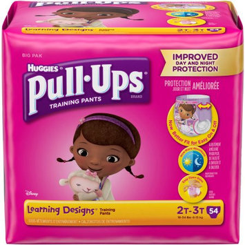 HUGGIES Pull-Ups Girls' Learning Designs Training Pants, Big Pack, (Choose Your Size)
