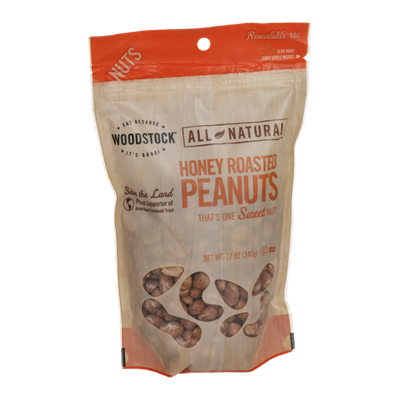 Woodstock All Natural Honey Roasted Peanuts