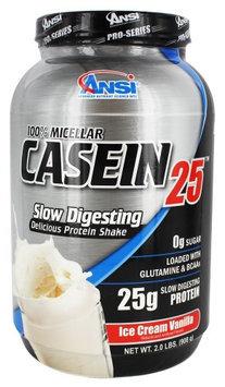 ANSI Advanced Nutrient Science - 100 Micellar Casein 25 Protein Powder Ice Cream Vanilla - 2 lbs.