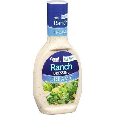 Great Value Fat Free Creamy Ranch Salad Dressing, 16 fl oz
