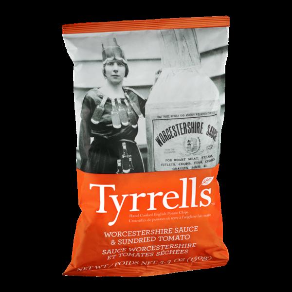 Tyrrell's Worchestershire Sauce & Sundried Tomato Potato Chips