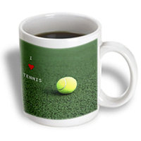 Recaro North 3dRose - Florene Sports - I Love Tennis - 15 oz mug