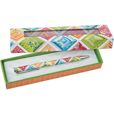 C & T Publishing Elizabeth's Patchwork Quilt Gift Pen-W/Gift Box