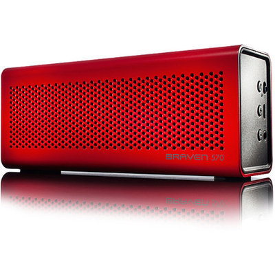 Braven 570 Portable Wireless Bluetooth Speaker - Red