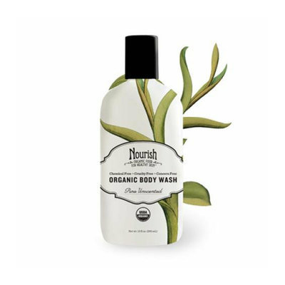 Nourish Organic Body Wash Pure Unscented 10 oz