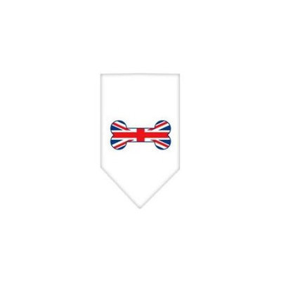 Ahi Bone Flag UK Screen Print Bandana White Small