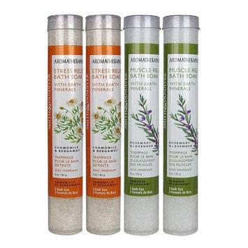 Smith & Vandiver Aromatherapaes Bath Soak Tubes Stress & Muscle Combo, 4 ea