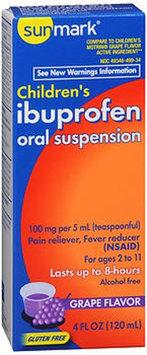 Sunmark Childrens Ibuprofen Oral Suspension, 100 mg, Grape 4 oz by Sunmark