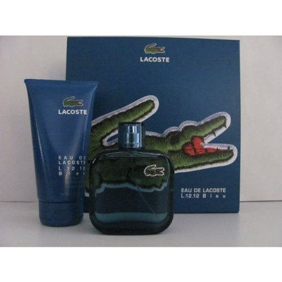 Lacoste Eau De Lacoste L.12.12 Bleu By Lacoste for Men 3.3 Oz Eau De Toilette Spray + 5.0 Oz Shower Gel