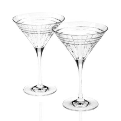 Reed & Barton Drinkware, Set of 2 Tempo Martini Glasses