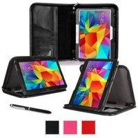rooCASE Samsung Galaxy Tab 4 10.1 SM-T530 Case - Executive Portfolio Leather 10.1