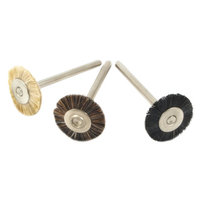 Forney 60242 Bristle Brush Set Natural with 1/8 Inch Shank 3 Piece