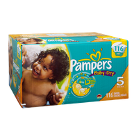 Pampers Baby Dry Size 5 Sesame Street Diapers - 116 CT