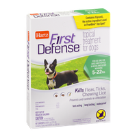 Hartz First Defense Topical Treatment for Dogs 5-22lbs - 3 CT