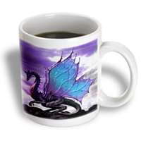 Recaro North 3dRose - Kids Stuff - Fairytale Dragon - 15 oz mug