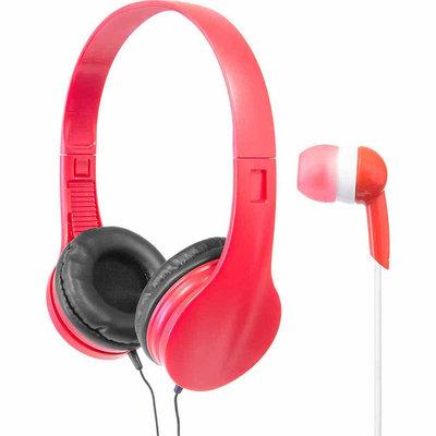 Wicked Audio Mayhem Headphones Bundle Red - M-SQUARED