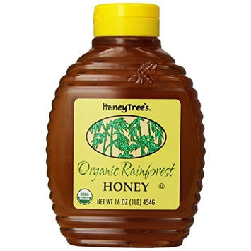 Honey Tree HoneyTree's Organic Rainforest Honey, 16-Ounce Bottles (Pack of 6)