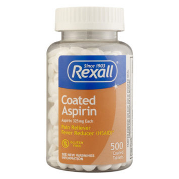 Rexall Aspirin - Coated Tablets, 500 ct