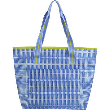 All For Color Blue Rattan Cooler Tote