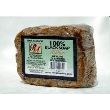 Ra Cosmetics 100% Natural African Black Soap w/ Mango Scent 5 Oz 141 G Bar