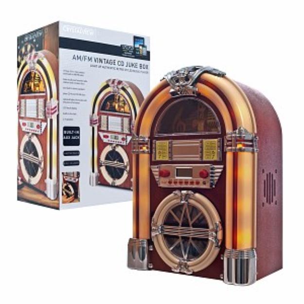 ADG Juke Box with AM/FM, CD, MP3 & Flashing Lights, 1 ea