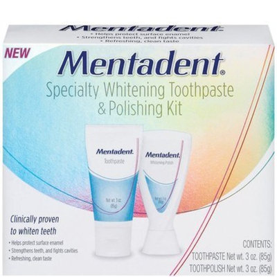 Mentadent Specialty Whitening Toothpaste & Polish Kit-6 oz