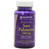 MSM MRM Saw Palmetto 160mg Softgels, 60 Count