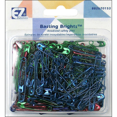 Wright's Basting Brights Safety Pins, Size 1, 200pc