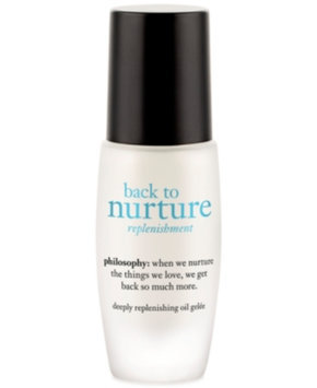 philosophy back to nurture deeply replenishing oil gelee, 1 fl oz