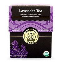 Buddha Teas Lavender 100 Percent Organic Herbal Tea 18 Bags Per Packet