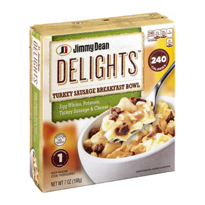 Jimmy Dean Delights Turkey Sausage Breakfast Bowl Egg Whites, Potatoes, Turkey Sausage & Cheese