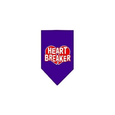 Ahi Heart Breaker Screen Print Bandana Purple Small