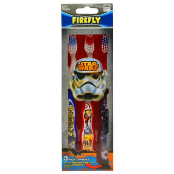 Firefly Kids! Star Wars Toothbrushes, Soft, 3 ra