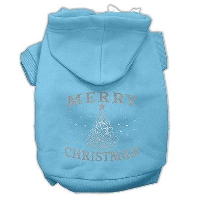 Mirage Pet Products Shimmer Christmas Tree Pet Hoodies Baby Blue Size Lg (14)