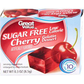 Great Value: Sugar Free Cherry Gelatin Dessert, .3 Oz